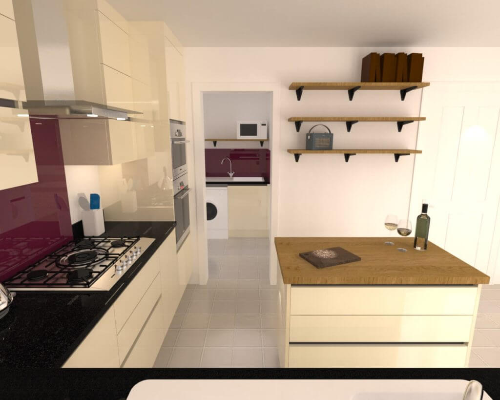 3D CAD Render of a Sheffield Sustainable Kitchens