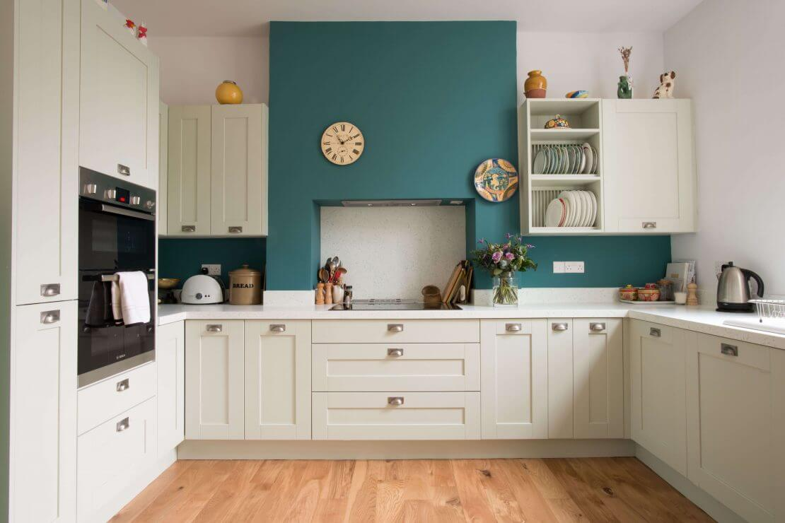 new shaker L-shaped kitchen from Sheffield Sustainable Kitchens