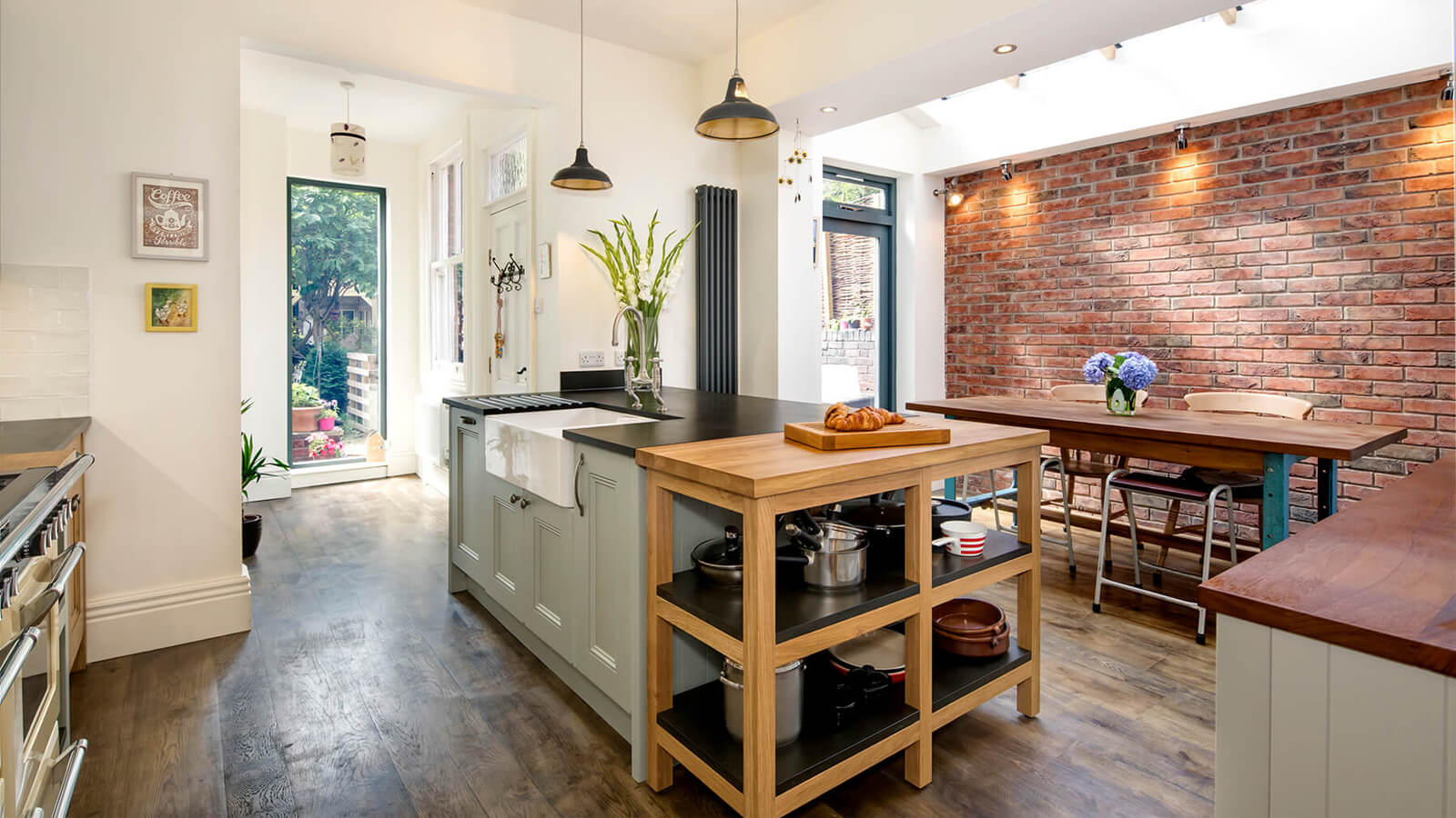 Recycled paper victorian kitchen from Sheffield Sustainable Kitchens