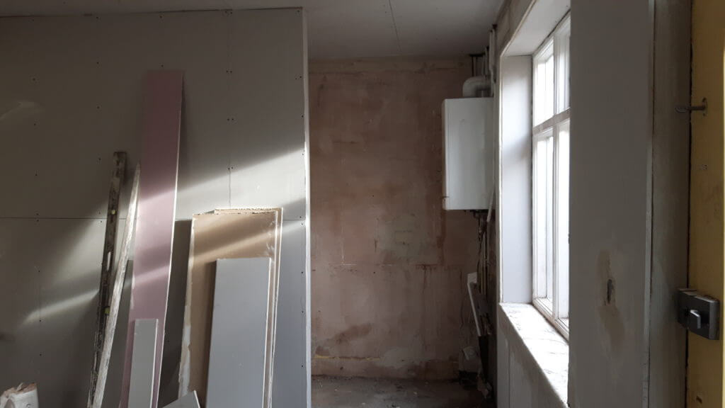 Minor building work in kitchen
