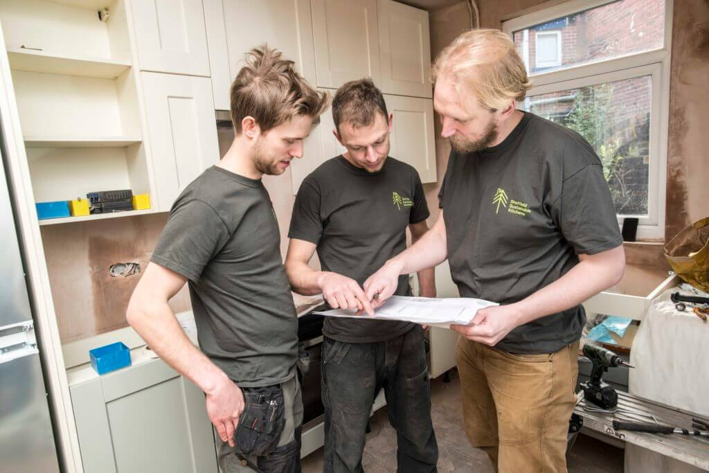 fitting a sustainable kitchen on site
