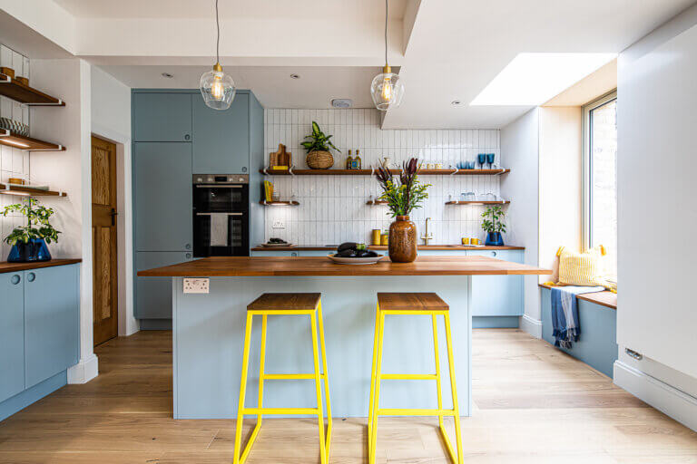 Ugly house to lovely house kitchen by Sheffield Sustainable Kitchens